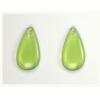 Glass Bead Teardrops 20x10mm Strung- Olive Green